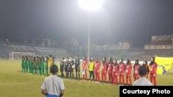 تیم ملی فوتبال بانوان افغانستان در رقابت با بنلگه دیش