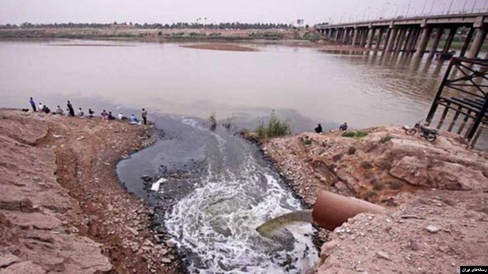 آلودگی آب در روخانه کارون در اهواز