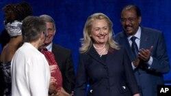 23일 워싱턴 국제에이즈 회의에 참석한 힐러리 클린턴 미 국무장관.