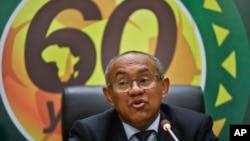 Le président de la Confédération africaine de football, Ahmad Ahmad, à Addis Abeba, Ethiopie, 16 mars 2017.