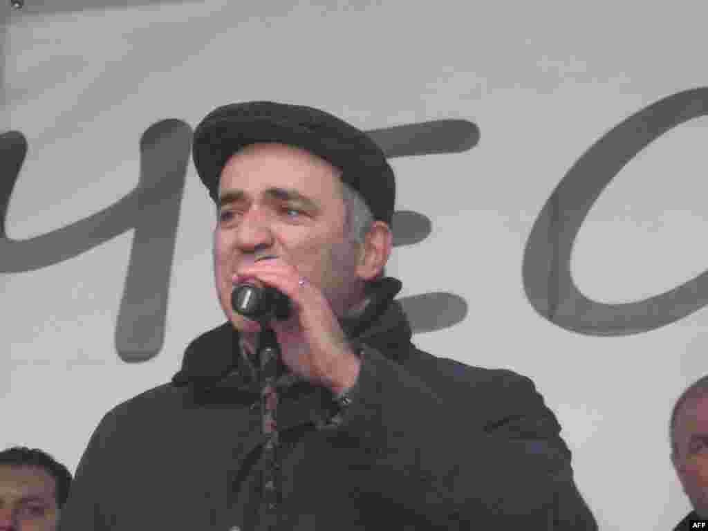 Гарри Каспаров на митинге