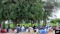 Residents of Agok in contested border zone of Abyei in Sudan gather under a tree for a session of traditional court, which occurs three times a week here, Aug 14, 2010 (file photo)