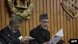 Hamid Karzai meclisin açılışında