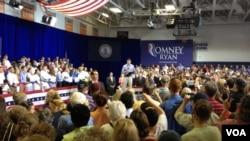 共和党副总统候选人保罗.瑞安在维吉尼亚州斯普林菲尔德进行大选造势