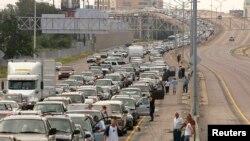 Пробка на выезде из Нового Орлеана, 28 августа 2005