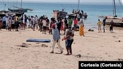 Deslocados de guerra chegam a Pemba, Cabo Delgado, Moçambique