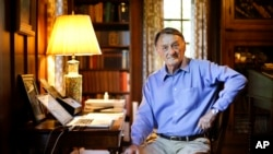 Ghosts of Tennessee retired attorney Jim Emison sits in his home office in Alamo, Tenn., June 10, 2015. In 2012, Emison was researching a story he planned to write about a court case when he came across an online article about two lynchings in 1937 and 1940.