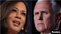 Senator Kamala Harris and Vice President Mike Pence