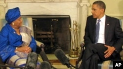 Liberian President Meets With President Obama