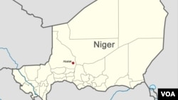 Map of Niger showing the location of Abalak