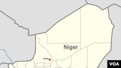 نائیجر کے نقشے میں ابالک کے قصبے کی نشان دہی کی گئی ہے