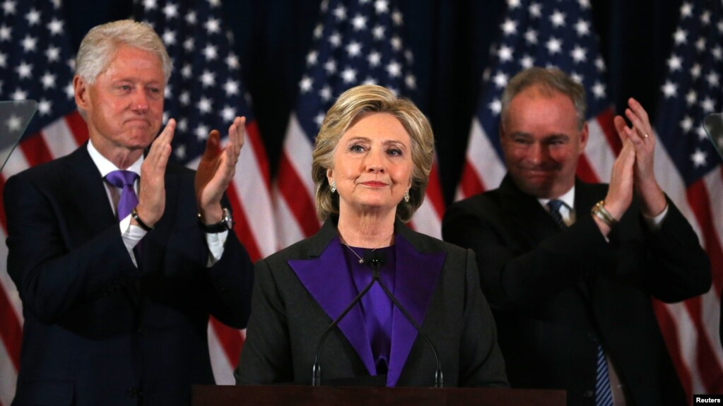 Clinton Offers To Work With Trump Urges Supporters To Keep Open - Us map of trump supporters and obama supporters during elections