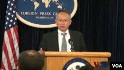 8月27日 ,負責亞洲太平洋經濟合作組織(APEC)事務的美國高級官員王曉岷(Robert Wang)在美國國務院外國媒體中心