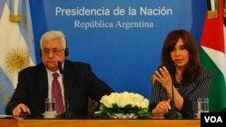"""Fernández dijo que Argentina hará """"todos sus esfuerzos"""" para construir una paz """"duradera y definitiva"""" en Medio Oriente."""