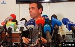 Henrique Capriles, líder de oposición venezolano partido Primero Justicia y gobernador del Estado Miranda.