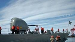کشتی الوند از ناوگان دریایی جمهوری اسلامی زمستان گذشته در بندر لاذقیه سوریه لنگر انداخت.