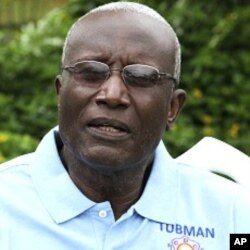 O candidato presidencial e antigo ministro da Justiça Winston Tubman