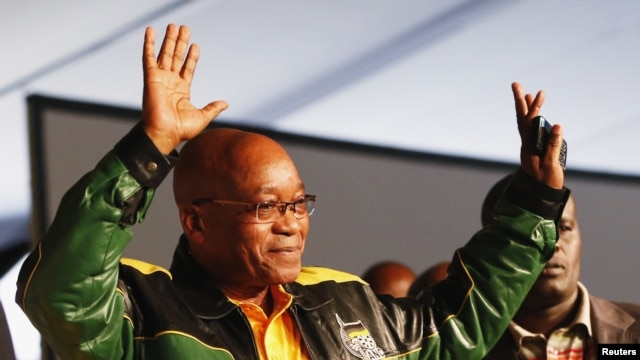 President Jacob Zuma attends 53rd National Conference of his ruling African National Congress, Bloemfontein, December 16, 2012.