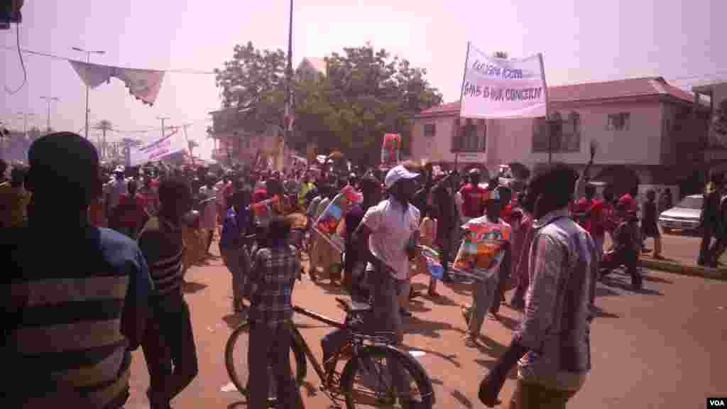 Janaral Buhari a Bauchi, Janairu 31, 2015.