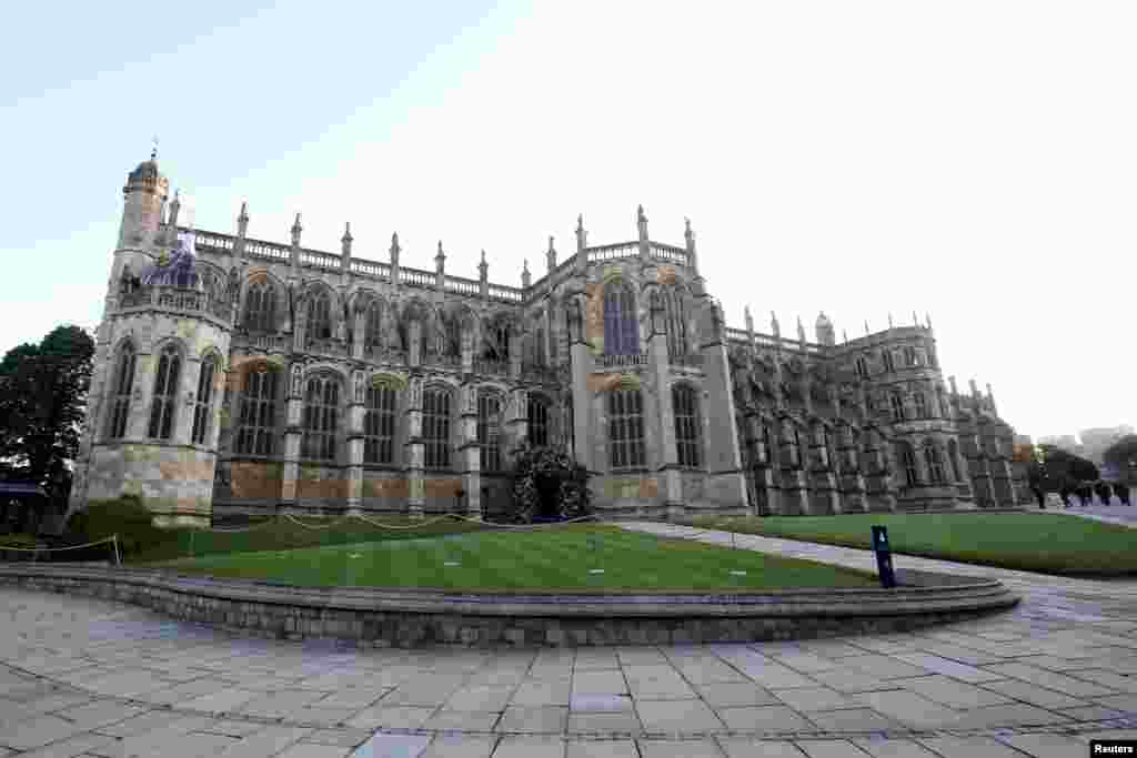 A general view of St George's Chapel, Windsor Castle ahead of the wedding of Prince Harry to Meghan Markle at St. George's Chapel, Windsor Castle, May 19, 2018, in Windsor, England.