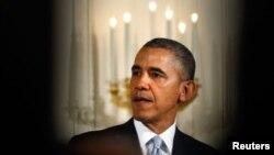 Barack Obama hizo la declaración un día después de que un sujeto mató a tiros a tres personas en dos centros judíos en Kansas City.