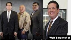 Từ trái: Thị trưởng Ricardo Lopez, Nghị viên Roel Mata, phó thị trưởng Rogelio G. Mata, Tổng Thư Ký Thành Phố/Luật sư James Jonas.