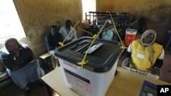 Un bureau de vote du Sud-Soudan