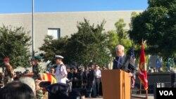 Bộ trưởng Hải quân Richard Spencer phát biểu tại lễ tưởng niệm 81 chiến sĩ VNCH ngày 26/10/2019 tại Westminster, California.