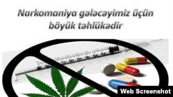 Narkomaniyaya qarşı mübarizə plakatı
