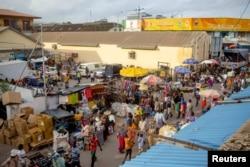 FILE - A view of Makola market in Accra, Ghana, June 15, 2015.
