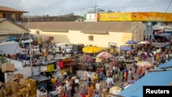 FILE - A view of Makola market in Accra, Ghana, June 15, 2015. Ghana's government has put the nation on high alert in the wake of Sunday's deadly terror attack in neighboring Ivory Coast.