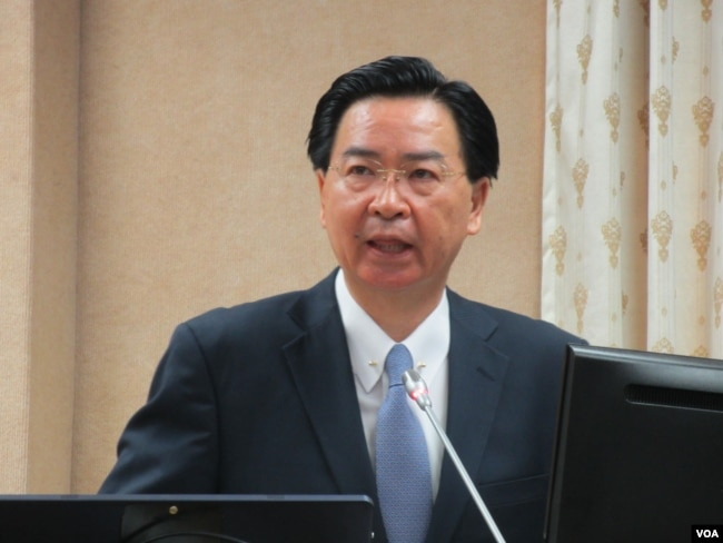 台灣外長吳釗燮(美國之音張永泰拍攝)