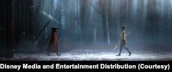 Karakter Raya dan Namaari terlibat konflik yang disebabkan oleh pengkhianatan. (Foto: Courtesy/Disney Media and Entertainment Distribution)