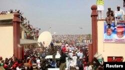 Dandazon magoya bayan Janar Buhari a Kano.