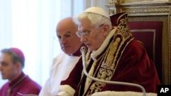 天主教宗宣布退位