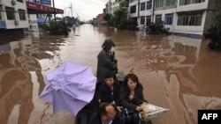 Ðây là trận lụt tệ hại nhất trong 50 năm nay ở tỉnh Thiểm Tây, Trung Quốc