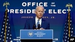 Joe Biden, prezidan eli ameriken.