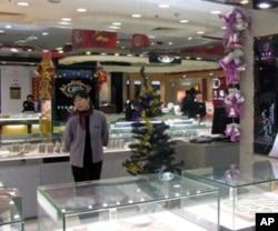 北京商店里的圣诞装饰