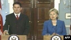 Дэвид Милибэнд и Хиллари Клинтон