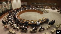 중동사태를 논의하는 유엔 안전보장 이사회 (자료사진)