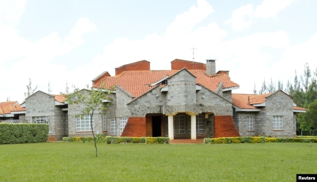 FILE- The home of Kenya's Deputy President William Ruto in Sugoi village near Eldoret, Kenya, Aug. 4, 2010.