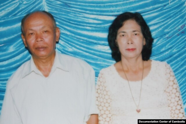 FILE - At left, Yim Tith (known as Ta Tith), the former acting chief of the Northwest Zone, has been charged with crimes against humanity, Jan. 22, 2011. (Courtesy of Vanthan Peoudara/Documentation Center of Cambodia)