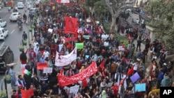 پاکستان میں گزشتہ سال طلبہ کے حقوق کے لیے ریلی کا اہتمام کیا گیا تھا۔ (فائل فوٹو)
