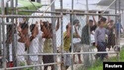 Người xin tị nạn tại một trại tạm giam Manus ở Papua New Guinea, ngày 21/3/2014.