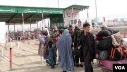 بلوچستان کے علاقے چمن میں پاکستان اور افغانستان کے درمیان سرحدی گزرگاہ (فائل فوٹو)