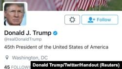 Nalog na Tviteru predsednika SAD Donalda Trampa