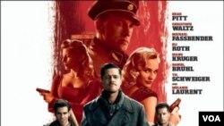 Brad Pitt berperan sebagai pemimpin kelompok The Basterd yang bermisi membunuh para Nazi.
