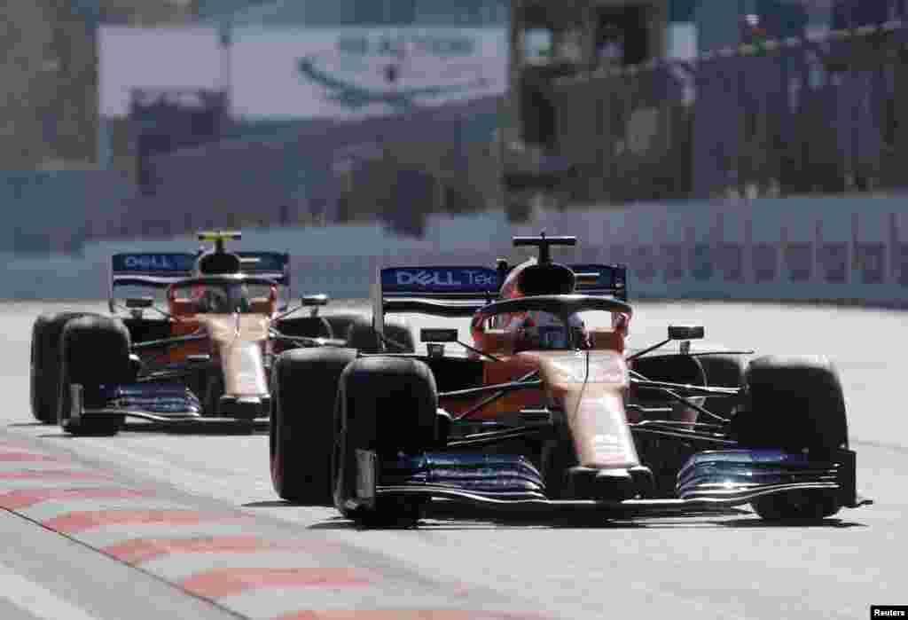مسابقه اتومبیلرانی فرمول یک روز یک شنبه در شهر باکو در کشور جمهوری آذربایجان برگزار شد.
