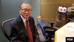 북한 평양과학기술대 박찬모 명예총장이 25일 VOA와 인터뷰를 하고 있다.