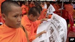 """The paper published an article on Nov. 13, in which it quoted Kem Sokha, vice president of the opposition Cambodia National Rescue Party, saying that """"election fraud"""" and the later deployment of the armed forces """"robbed victory from the Cambodian people."""""""